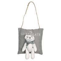 Scented bag grey w/teddy