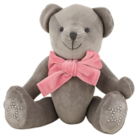Velvet teddy grey w/ribbon