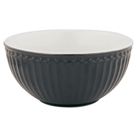 Cereal bowl Alice, Dark grey