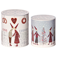 Set med 2 st burkar, Christmas Cookie
