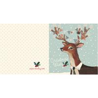 Kort med kuvert, Reindeer