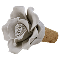 Wine stopper flower, Pale grey