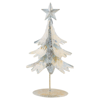 Tree gold w/shimmer standing, Small