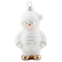 Snowman Glass, White