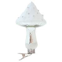 Mushroom with clip, White