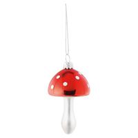 Mushroom red glass hanging