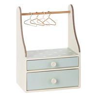 Garderob med två lådor, Mint