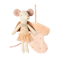 Mouse Angel with stocking, Powder