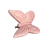 Butterfly ornament, Pale pink w/clip