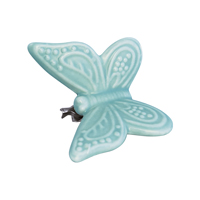 Butterfly ornament, Pale green w/clip