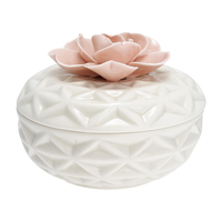 Jewelry box Flower, Pale pink Large