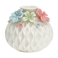 Vase Flower, Multicolor round medium