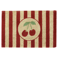 Doormat Cherry, White
