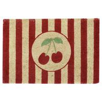 Doormat Cherry, White