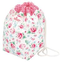 Cotton bucket bag w/rope Meryl, White