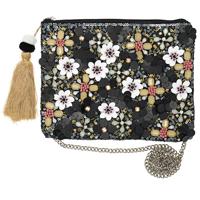 Hand bag Floral, Black