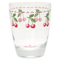Water glass Cherry, White