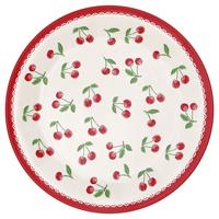 Plate Cherry, White