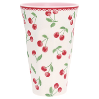 Tall cup Cherry, White