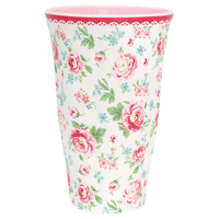 Tall cup Meryl, White