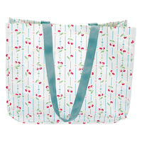 Shopper bag Cherry, White