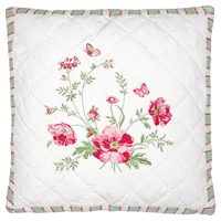 Kuddfodral Meadow, White w/embroidery