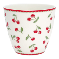 Lattemugg Cherry, White