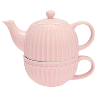 Tea for one Alice, Pale pink