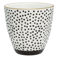 Lattemugg Dot, Black w/gold