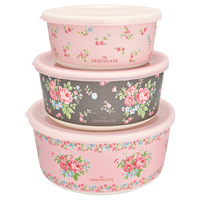 Round box Marley, Pale pink set of 3