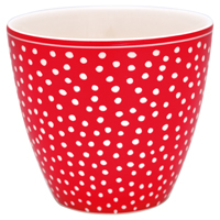 Lattemugg Dot, Red