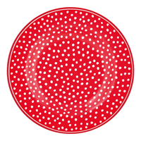 Liten assiette Dot, Red