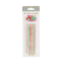 Long cake candle - assorted pastel colors