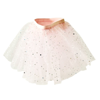 Kids tulle skirt - super soft pink with silver dots