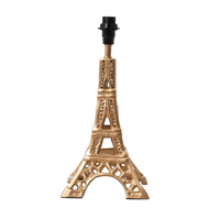 Metal table lamp in Eiffel Tower shape in gold, Small