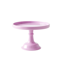 Melamine cake stand, Pink - XSmall