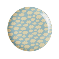 Melamine kids lunch plate with Cloud print
