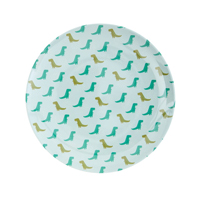 Melamine kids lunch plate with Dino print