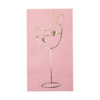 Lunch napkin with gold print