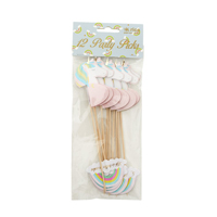 Party sticks in unicorn and rainbow shape