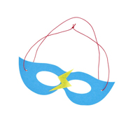 Felt masks in kids super hero theme