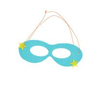 Felt masks in kids super hero theme