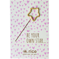 Sparkler to and from card, Star shaped gold