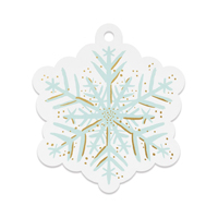 Set med 8 st gift tags, Snowflake Die-Cut