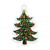 Set med 8 st gift tags, Christmas Tree Die-Cut