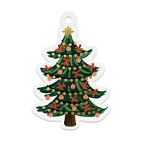 Set med 8 st gift tags, Christmas Tree Die-Cut
