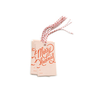 Set med 10 st Merry Christmas Gift Tags