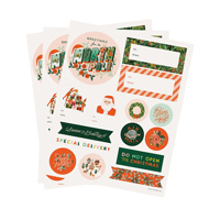 Etiketter, Season´s Greeting Stickers & Labels