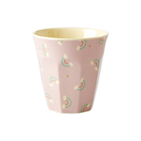 Melamine kids cup with Rainbow print, Small