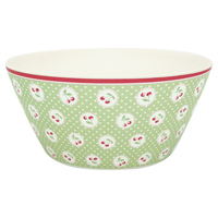 Bowl Cherry berry, Pale green large